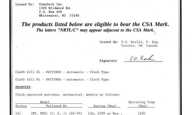 CSA – Timers MT49/MT59